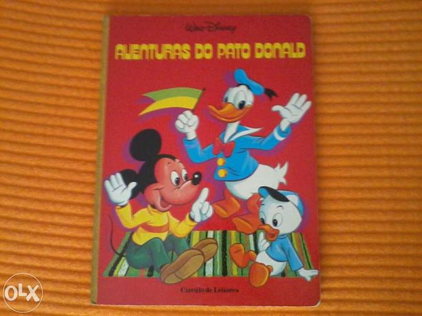 Livro Aventuras do Pato Donald Walt Disney 1982