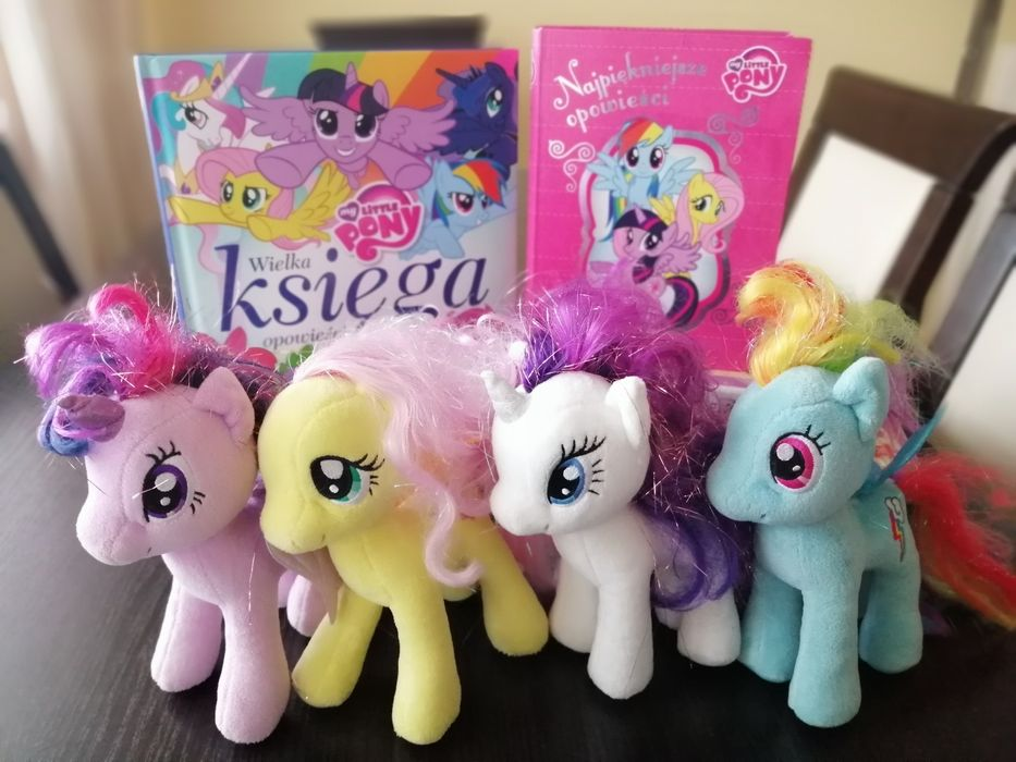 4 Kucyki My Little Pony + 2 książki gratis Skarżysko-Kamienna - image 1
