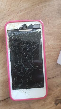 iphone 5 telefon biały 16