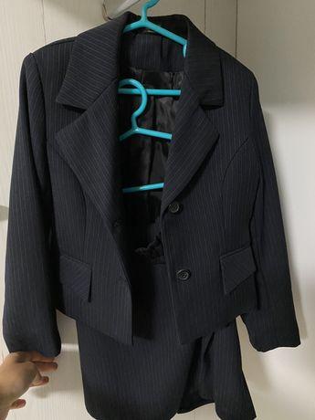 Комплект тройка школьная форма для девочки юбка пиджак брюки