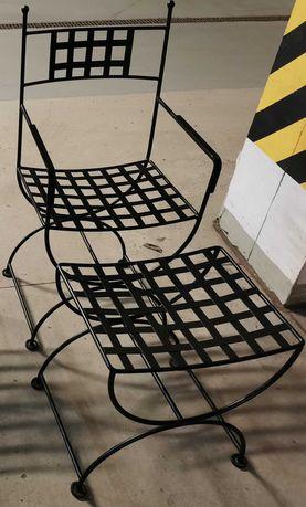 Krzesła metalowe + taborety