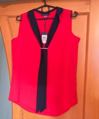 Блуза красная без рукавов Tommy Hilfiger оригинал