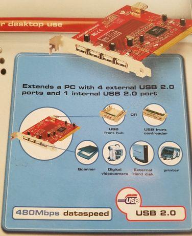 Extensão de USB 2.0 4-1
