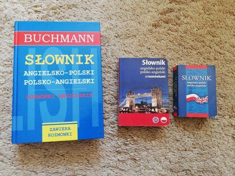 Słownik angielsko polski Polsko angielski rozmówki buchman