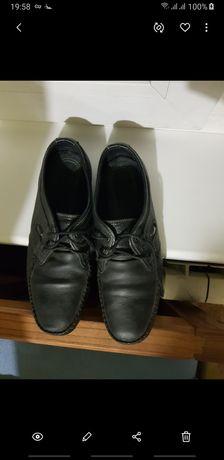 Туфли школьные мальчуковые р.36 кожа на узкую ножку