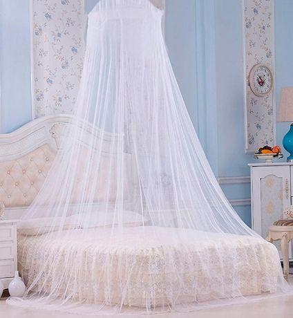 Сетка балдахин от комаров подвесной над кроватью розовый и голубой