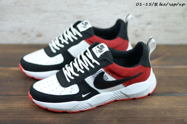Мужские модные кожаные кроссовки Nike 2021, чоловічі кросівки весна