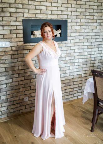 Suknia ślubna jasny róż