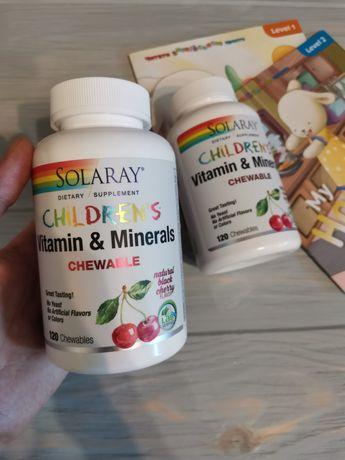 Solaray Детские мультивитамины 120 жевательных таблеток Америка