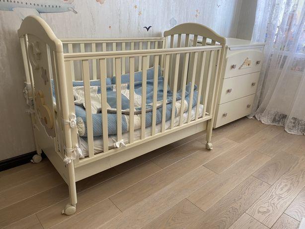 Кроватка и пеленальный комод Azzurra Design