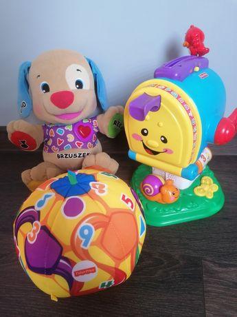 Zabawki Fisher Price szczeniaczek piłka skrzynka pocztowa zestaw zabaw