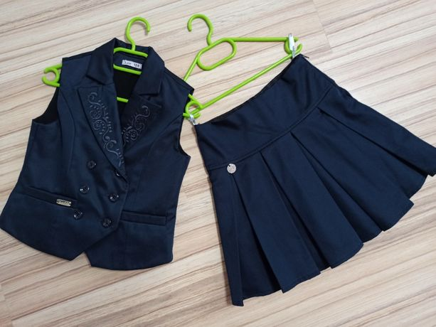 Школьный комплект юбка и жилет Suzie для девочки 8-9 лет 128 размер