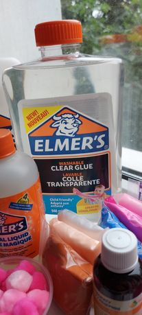 Клей  Elmer's и огромный набор для слаймов