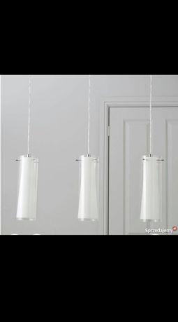 lampa żyrandol wisząca sufitowa szklane podwójne klosze