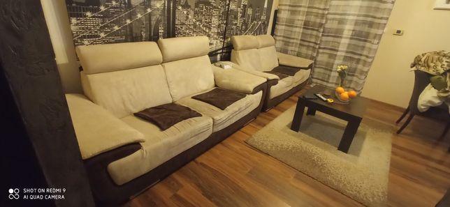 Dwie kanapy sofy za 400 zł wymiary 210x90 i 190x90