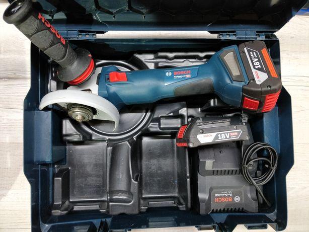 Акамуляторная болгарка Bosch GWS 18V-125C в идеальном состоянии