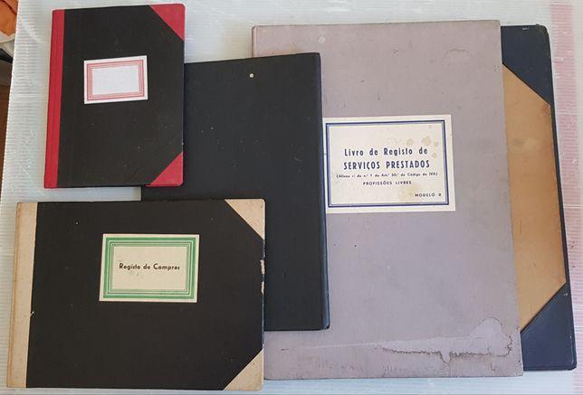Livros de registros vintage