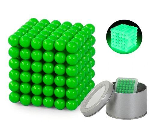 Nowe Kulki magnetyczne neocube fluo świecące 5mm 216 szt + etui