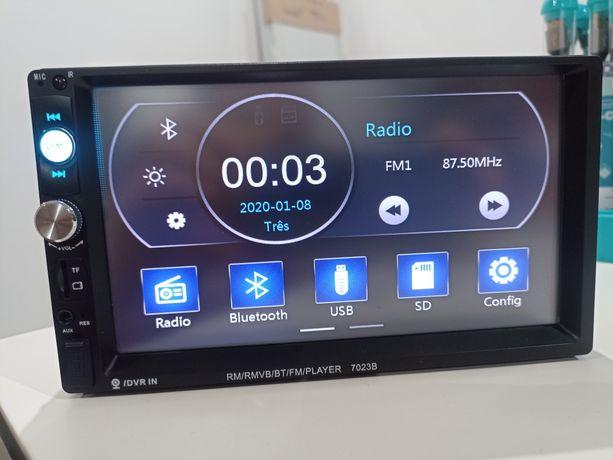Auto-Rádio Touch 2 din MP5 Stereo Radio FM USB AUX SD Bluetooth