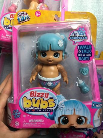 Интерактивная кукла Снежный Лучик Bizzy Bubs