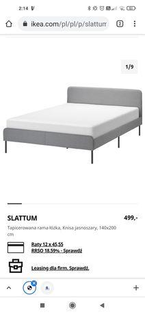 Łóżko Ikea slatum tapicerowane