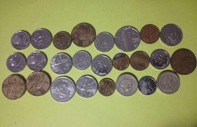 Monety z roznych krajow