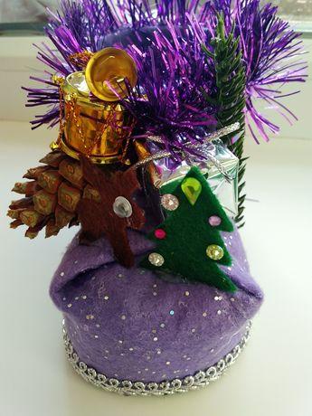 Рождественский сапожок для подарков:)Декорчик