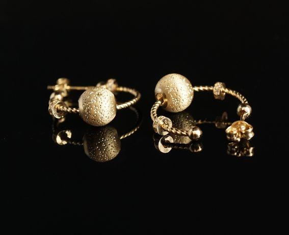 Złoto 585 - złote kolczyki ala Pandorka HIT