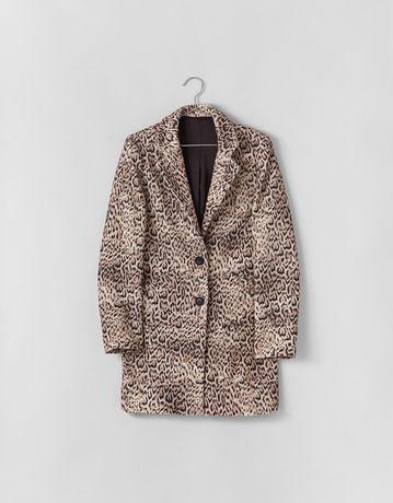 Bershka пальто леопардовый принт пиджак