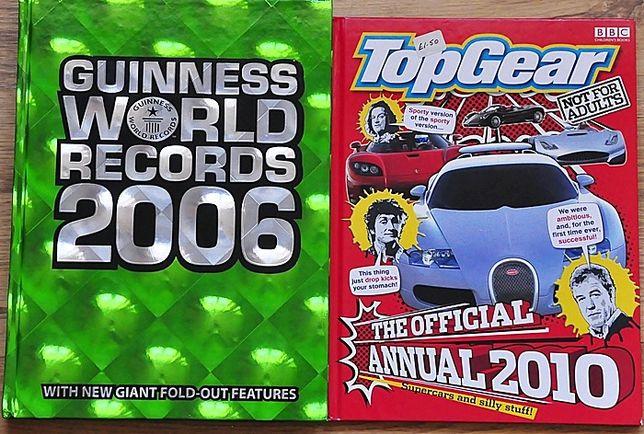 Zestaw angielski TOP GEAR Księga rekordów GUINESSA
