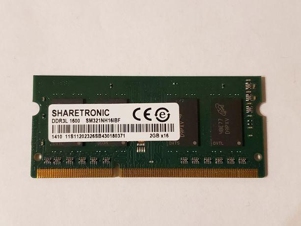 Оперативная память для ноутбука SO-DIMM DDR3L 2GB