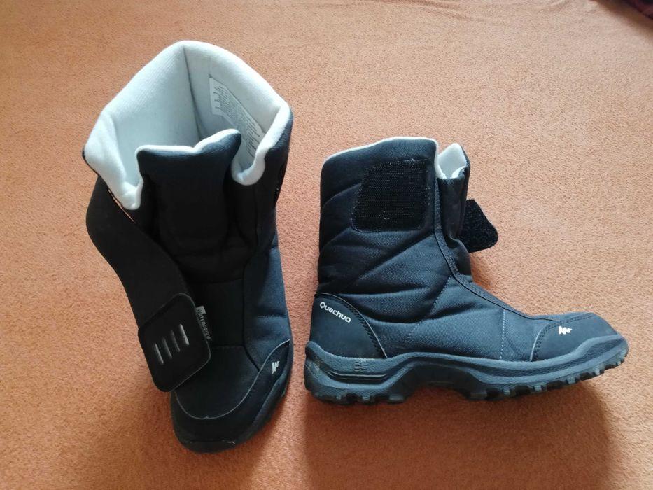 Buty zimowe śniegowce decathlon czarne rozmiar 34 Bydgoszcz - image 1