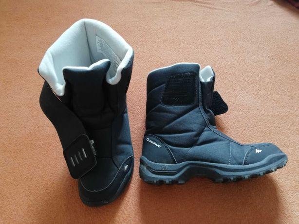 Buty zimowe śniegowce decathlon czarne rozmiar 34