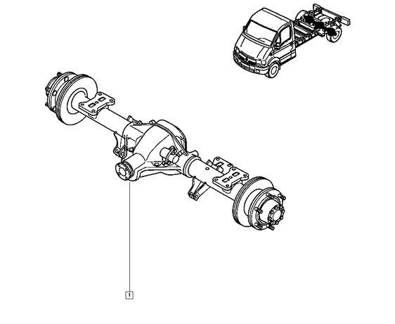 Eixo traseiro completo Renault Mascott ou Master