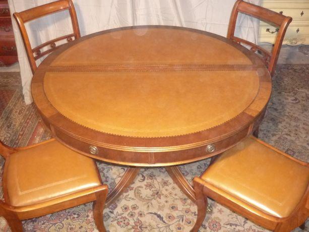 Stół Angielski Dębowy Rozkładany 4 Krzesła z Holandii