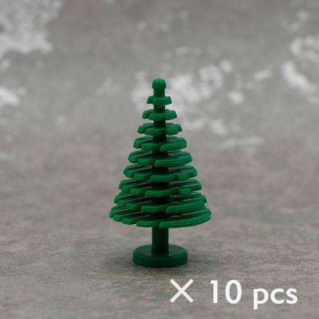 Klocki Choinki Kolor Zielony Drzewa Rośliny Krzaki 10 szt NOWE