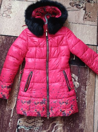 Зимова куртка, натуральне хутро песець