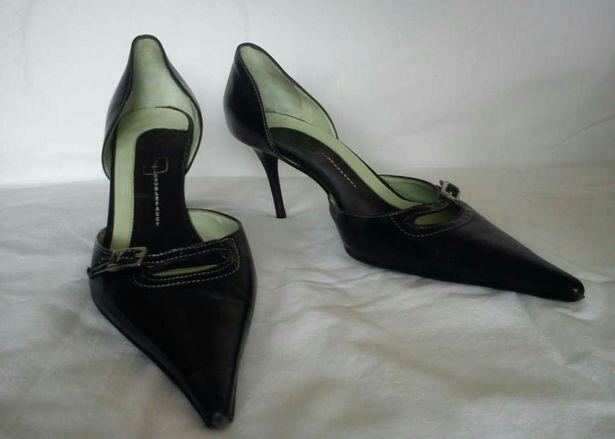 Szpilki skórzane czarne, szpilki Włoskie, rozmiar 39