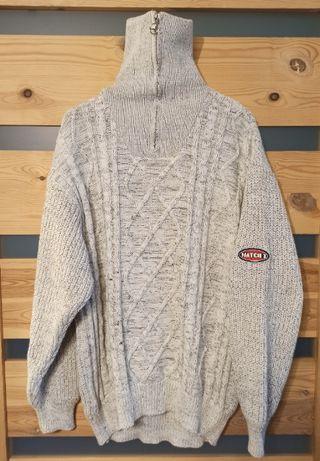 Arison sweter golf wełniany warkocz męski