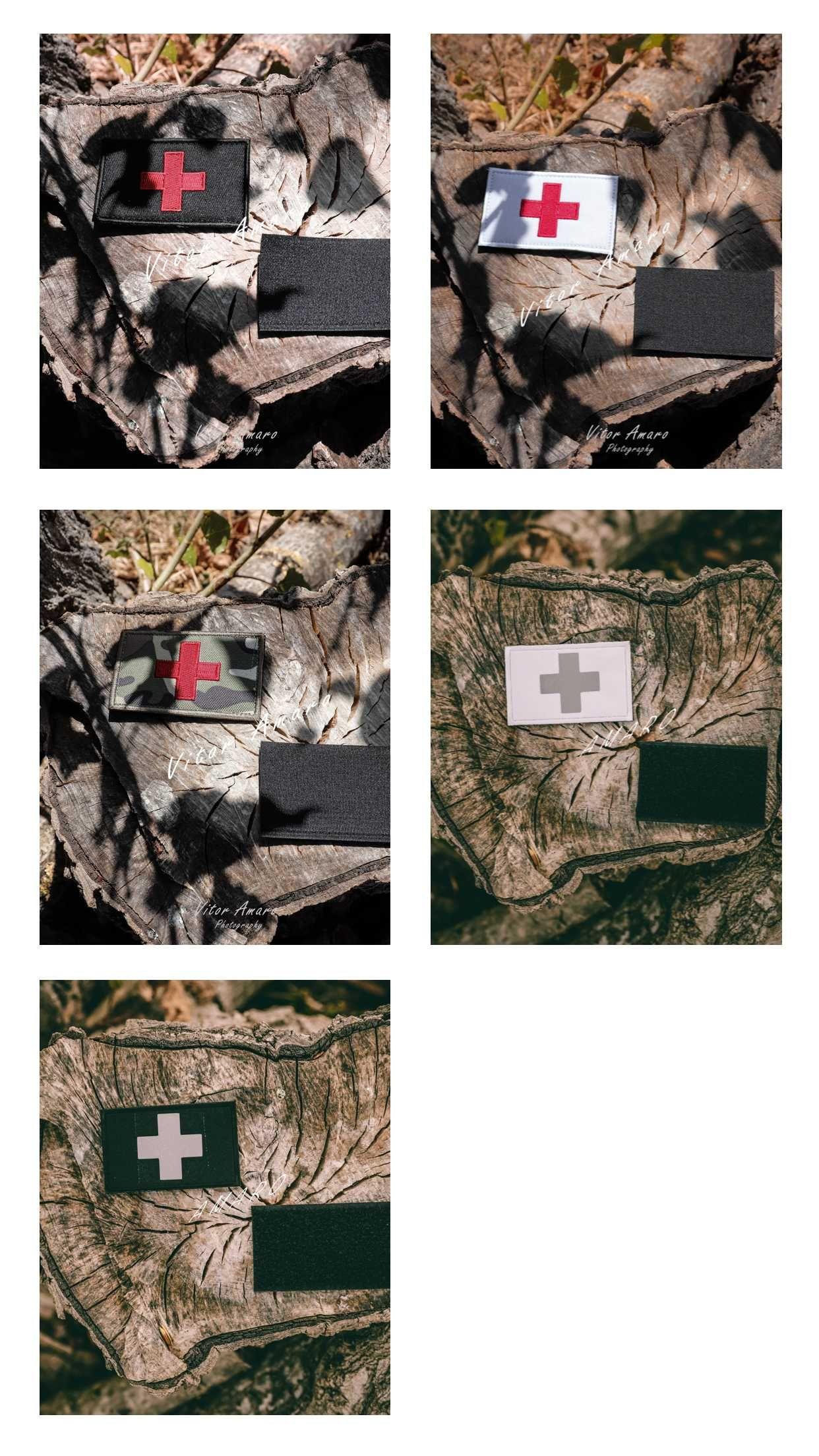 Bandeira de Socorrista Velcro para Caça Exercito Airsoft (5 Modelos)