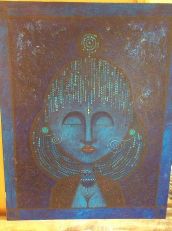 Quadro de pintura arcrylic - Blue Dreamer - para colecionadores de art