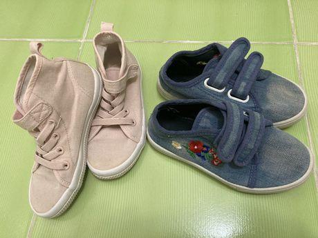 Кеды на девочку, мокасины, набор обуви