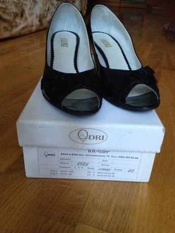 Туфли женские летние ODRI 40 размер. Натуральная кожа.