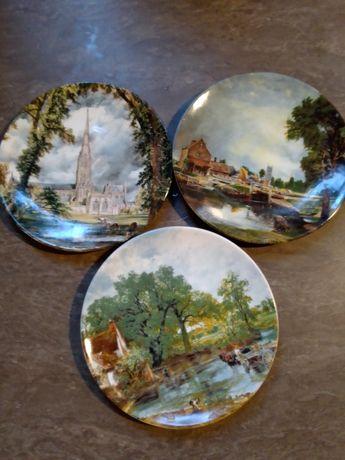Антикварные английские каминные тарелки