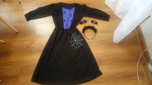 Sukienka na Helloween z opaską