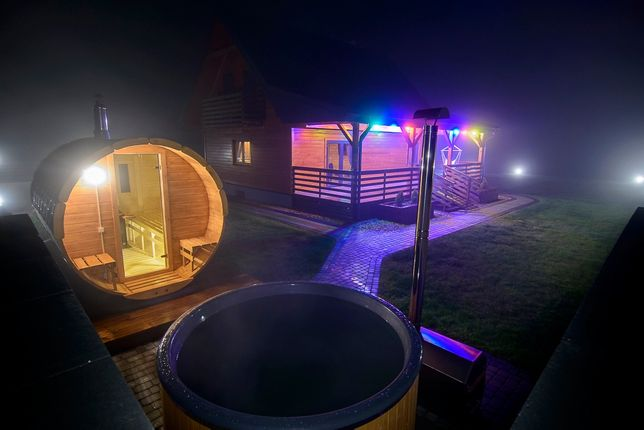 Pokoje w domu drewnianym nad jeziorem , Sauna, Bania Podlaskie, Mazury
