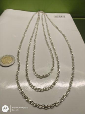 Warmet Biamet nowy naszyjnik łańcuszek srebro koral złoto wycena