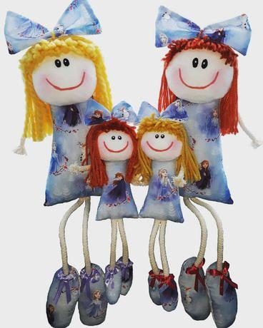 Bonecas de pano - Padrão da Frozen