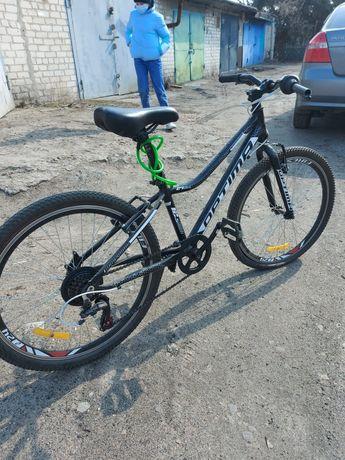 """Хит! Алюминиевый подростковый горный дисковый велосипед 24"""" OPTIMA BLA"""