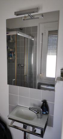 Recheio WC casa de banho, poliban, lavatório, sanita, espelho, etc